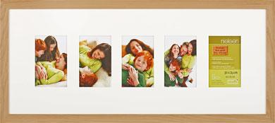 74x30cm Nielsen Essentielles Birch Picture Frame & Mount, 5 Photos (RW4884001)