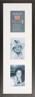 60x20cm Nielsen Tribeca Black Picture Frame & Mount, 3 Photos (RW5820002)