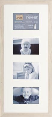 60x25cm Nielsen Tribeca White Picture Frame & Mount, 4 Photos (RW5829003)