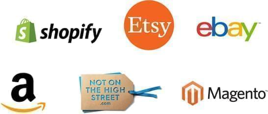 Supported Platforms. Not On The Highstreet, Etsy, Amazon, Ebay, Magento, Shopify