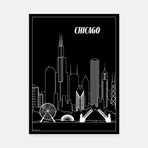 Chicago City Skyline Print
