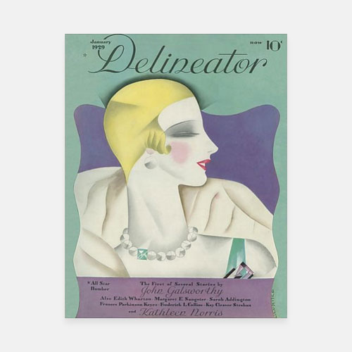 Poster Print of Delineator cover January 1929