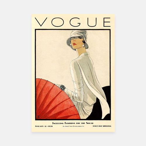 Vintage Art Deco Fashion Magazine Cover