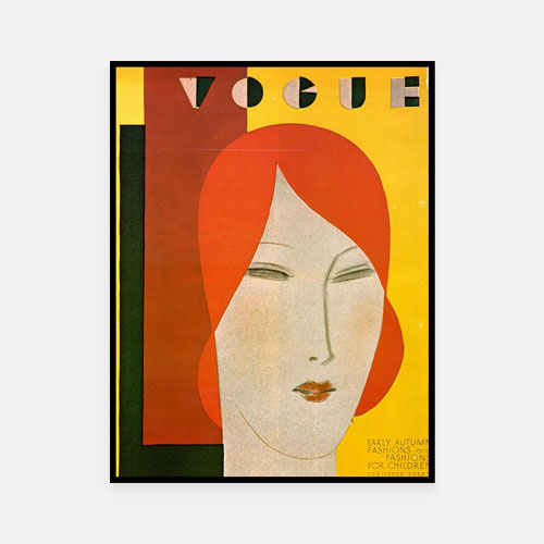 Illustration of a Vogue August, 1929 cover