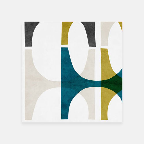 Nordic geometric wall art print