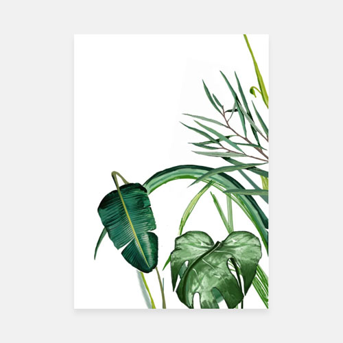 Botanical leaves art print