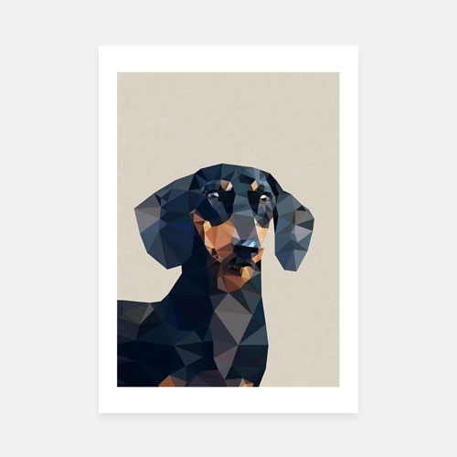 Geometric dog art print