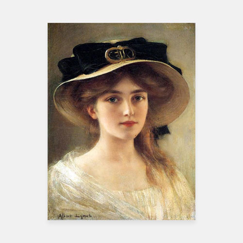 Portrait of a young girl by albert lynch