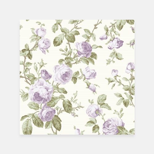Lilac purple rose vintage floral canvas
