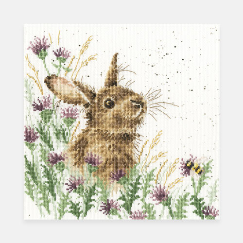 Rabbit cross stitch kit